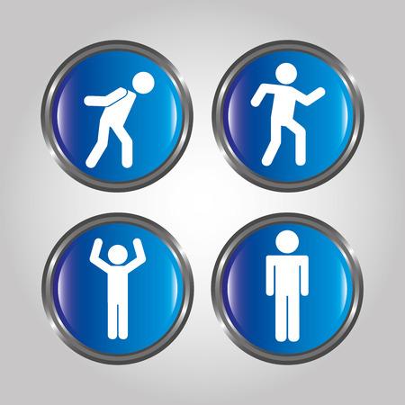 men sign design, vector illustration eps10 graphic