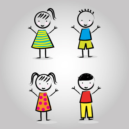 small people: children drawing design, vector illustration eps10 graphic