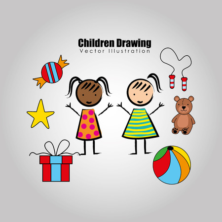 small group of animal: children drawing design, vector illustration eps10 graphic