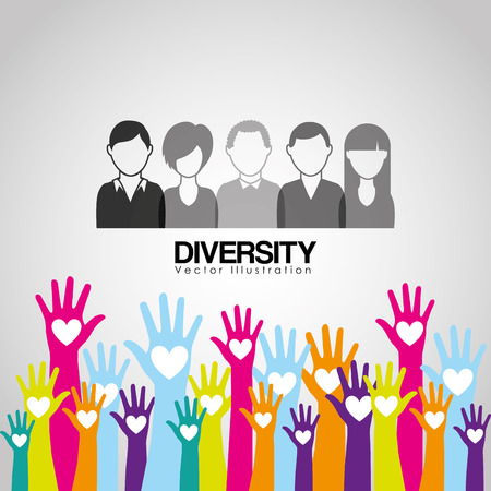 cause: diversity hands design, vector illustration eps10 graphic