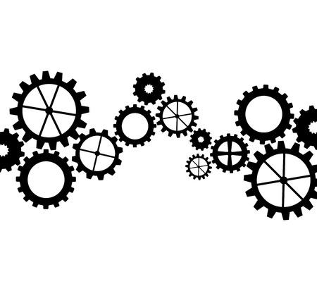 gears concept design, vector illustration eps10 graphic Stock Illustratie