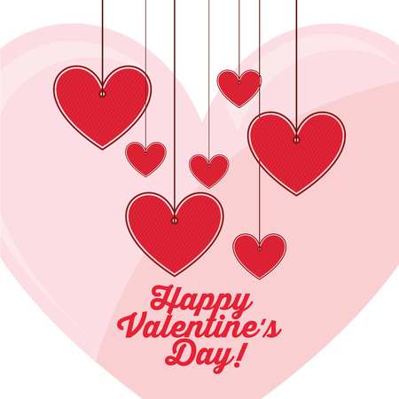 valentine border: love card design, vector illustration eps10 graphic Illustration