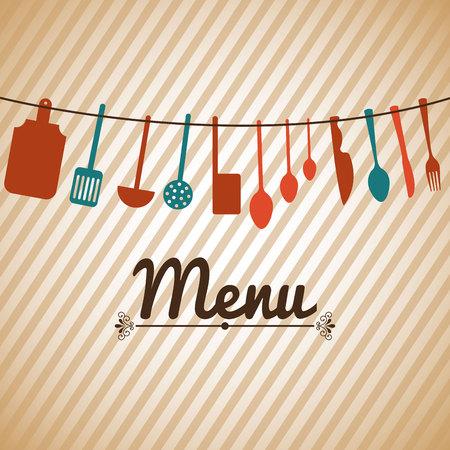 menú de restaurante diseño, ilustración vectorial gráfico eps10