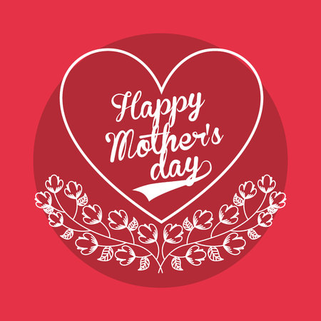 holiday backgrounds: happy mothers day design, vector illustration eps10 graphic Illustration