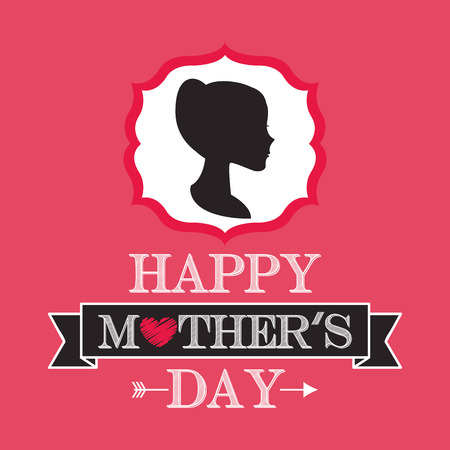 you figure: happy mothers day design, vector illustration eps10 graphic Illustration