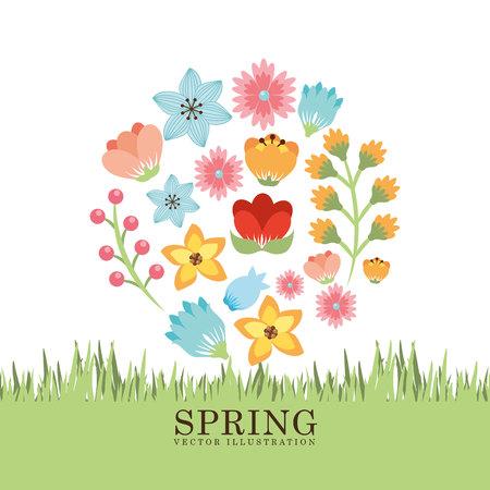 printemps saison conception, vecteur illustration graphique eps10