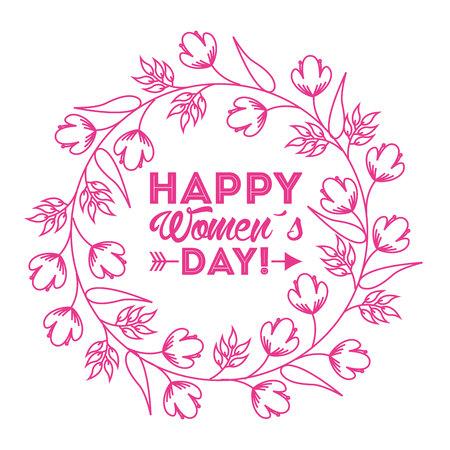 glücklich Frauen Tag Design, Vector Illustration eps10 Grafik Vektorgrafik