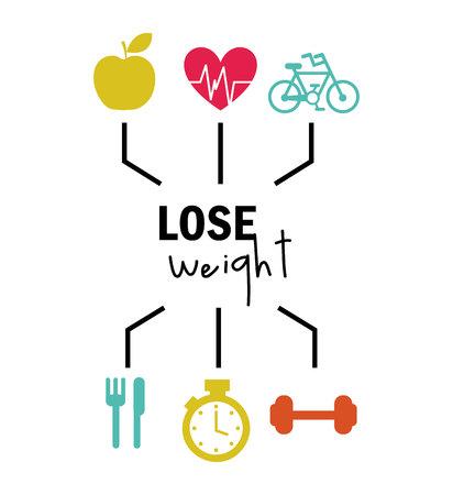 Gewicht zu verlieren, Design, Vector Illustration eps10 Grafik Vektorgrafik