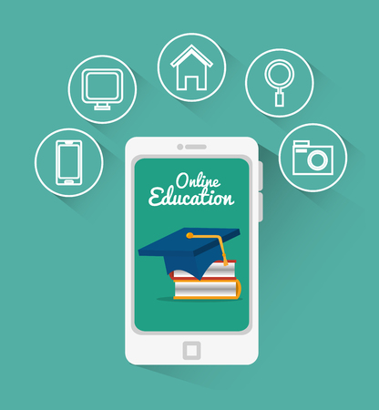 online education design, vector illustration eps10 graphic