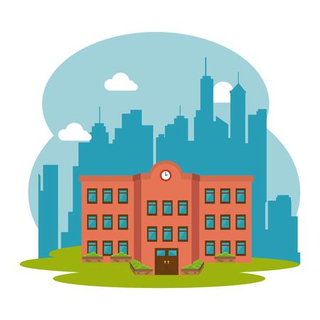 edificio escuela: concepto de diseño de la educación, la ilustración vectorial gráfico eps10