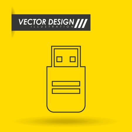 usb plug design, vector illustration eps10 graphic Illustration