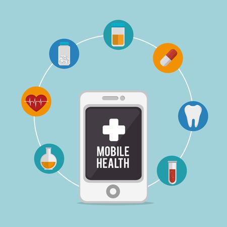 mobile health design, vector illustration eps10 graphic