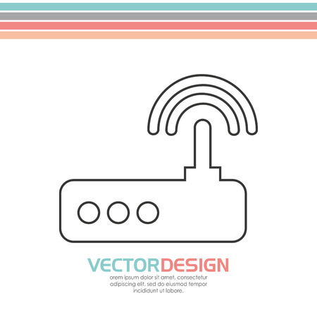 antena: wearable technology design, vector illustration eps10 graphic