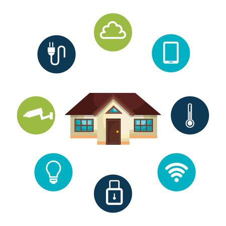 conception de maison intelligente, illustration graphique eps10