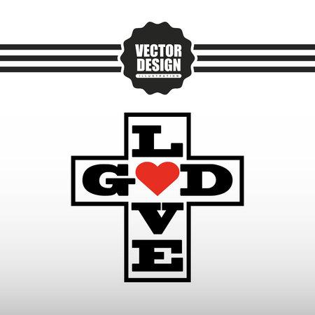 hope symbol of light: catholic icon design, vector illustration eps10 graphic