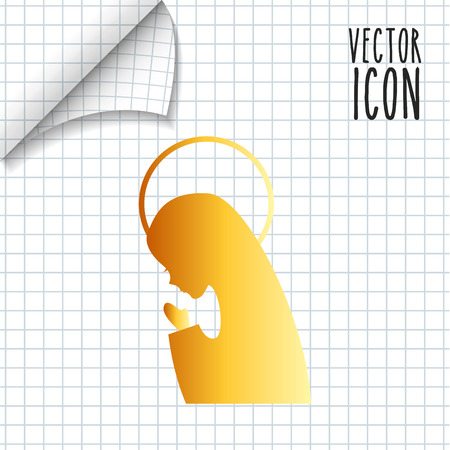 gold leafs: catholic icon design, vector illustration eps10 graphic