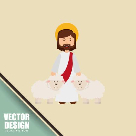 catholic symbol: catholic icon design, vector illustration eps10 graphic
