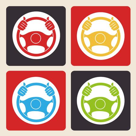 automobilista disegno, illustrazione grafica vettoriale eps10