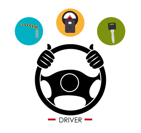 Fahrer-Auto-Design, Vektor-Illustration eps10 Grafik