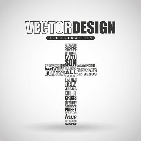 cattolico icona del design, illustrazione grafica vettoriale eps10