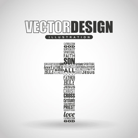 religious backgrounds: catholic icon design, vector illustration eps10 graphic