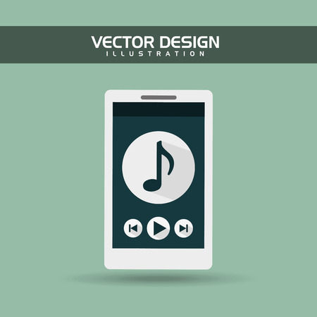 music player: wearable technology design, vector illustration eps10 graphic