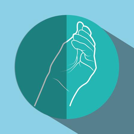sign language design, vector illustration eps10 graphic