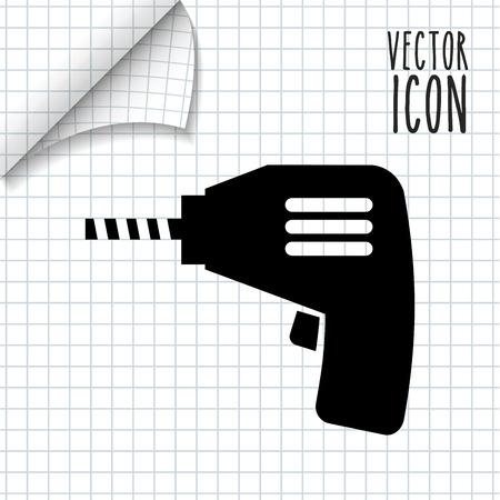 driller: under construction design, vector illustration graphic