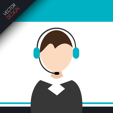 call center agent: call center agent design, vector illustration  graphic