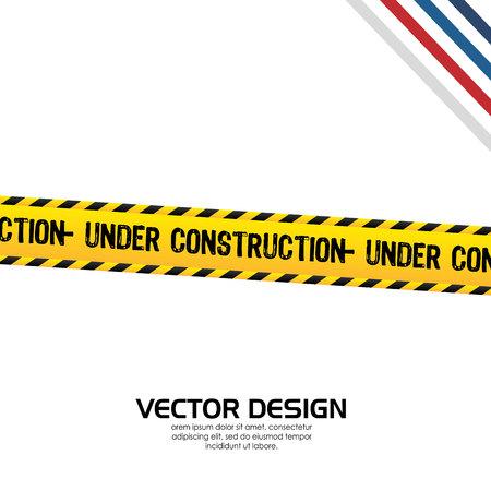 alert ribbon: under construction design, vector illustration eps10 graphic Illustration