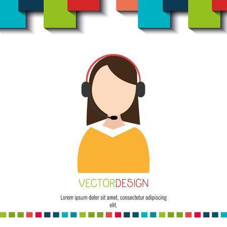 call center agent: call center agent design, vector illustration eps10 graphic