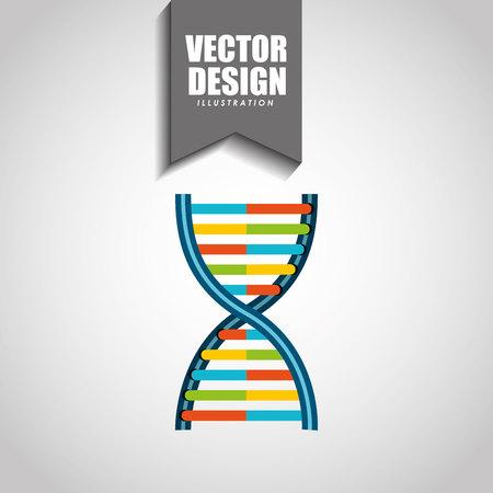 adn: ciencia icono del diseño, ilustración vectorial gráfico eps10