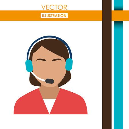 call center agent design, vector illustration eps10 graphic