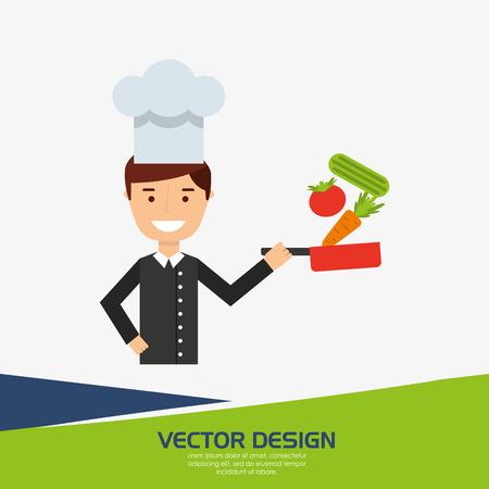 professional chef design, vector illustration eps10 graphic