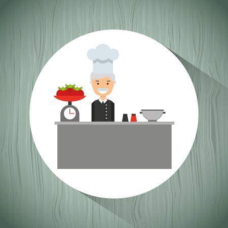 professional chef: professional chef design, vector illustration eps10 graphic