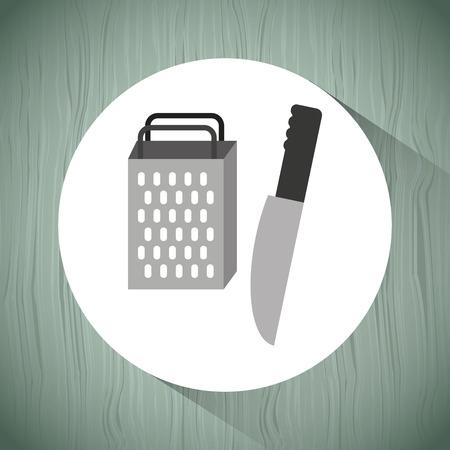 metal grater: kitchen utensils design, vector illustration eps10 graphic