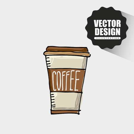 coffee time icon design Illustration