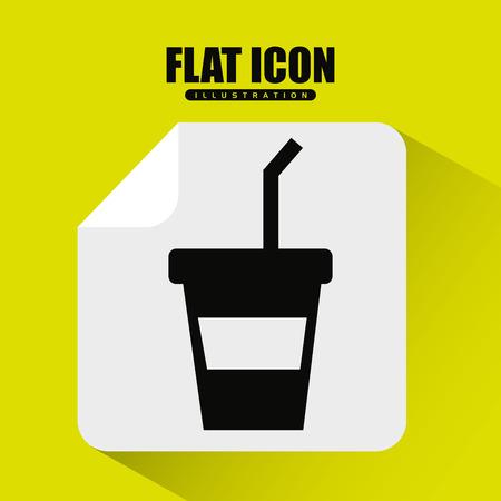 coffee time icon design Illustration