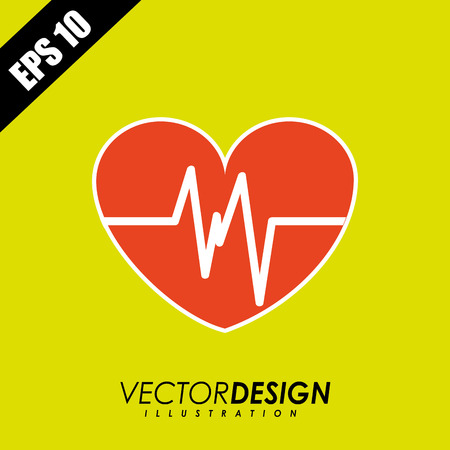 medical heart: medical icon design