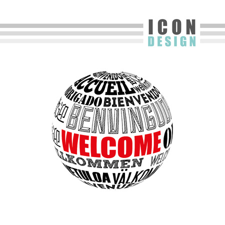 willkommen: welcome icon design, vector illustration graphic Illustration