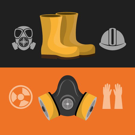 coverall: safety equipment design, vector illustration  graphic Illustration