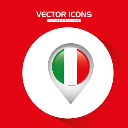 italian politics: flag icon design, vector illustration  graphic