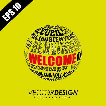 willkommen: welcome icon design, vector illustration  graphic