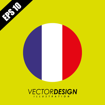 round shape: flag icon design, vector illustration  graphic