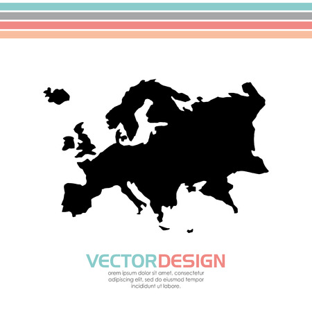 europe map design, vector illustration  graphic Çizim