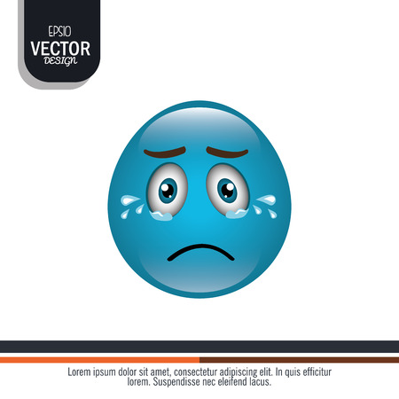 funny emoticon design, vector illustration  graphic