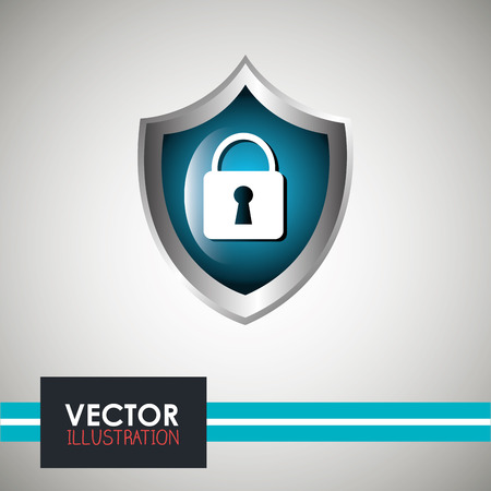 lock symbol: security system design, vector illustration  graphic
