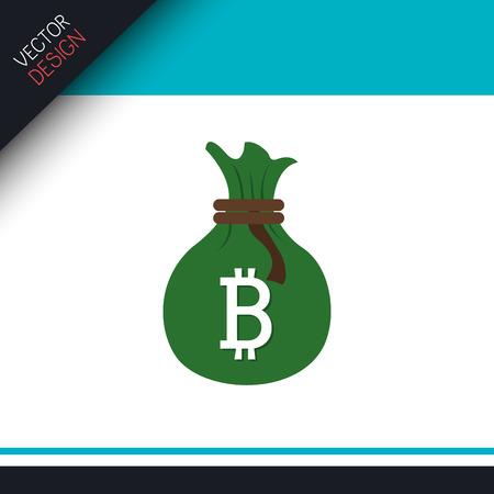 bit: bit coins design, vector illustration  graphic