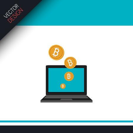 e cash: bit coins design, vector illustration  graphic