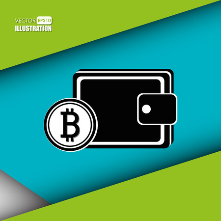 bit: bit coins design, vector illustration  graphic